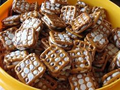 I received some of these as a gift.  My kids gobbled them up - reporting they were delicious!  My friend said her kids had a good time making them ... they used round pretzles, and didn't sandwich them.