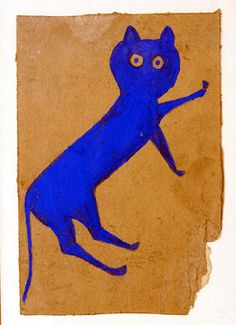 """Traylor trash? """"The top lot of the sale was this painting on original found cardboard by Alabama folk artist Bill Traylor (1856–1947) that sold for $42,550."""""""