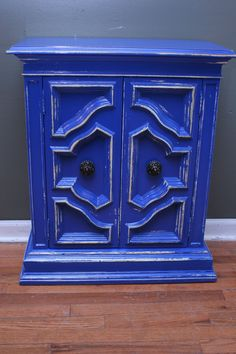Royal Blue Cabinet ~ $199