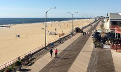 Over the boardwalk … Asbury Park is a 'peachy slice of beachside America'. - Hannah Summers