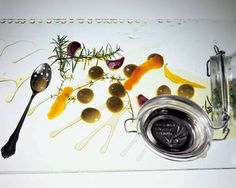 "One of El Bulli's signature dishes: Liquid-filled Spherical ""Olives"""