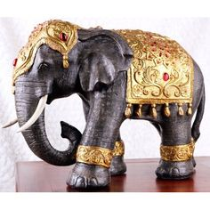 Large Thai Style Elephant Figurine Zen Home Decoration......................d