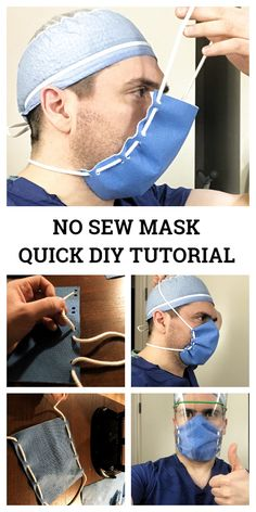 Low cost face shield mask diy tutorial + video fabric art diy how to make your own face mask for coronavirus my daily time beauty health fashion food drinks architecture design diy Easy Face Masks, Diy Face Mask, Nose Mask, Homemade Face Masks, Mask Video, Techniques Couture, Diy Mask, Sewing Patterns Free, Free Sewing