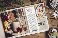 December Daily 2018 - minding my nest Christmas Mini Albums, Christmas Journal, Christmas Scrapbook, Christmas Minis, Christmas Countdown, Christmas Projects, Winter Christmas, Christmas Ideas, Merry Christmas