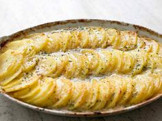 Ingredients: 4 C. thinly sliced potatoes 3 T. butter 3 T. flour 1 1/2 C. milk 1 tsp. salt 1 tsp. my house seasoning (equal parts garlic powder, onion powder and pepper…combine and store in an airtight container) pinch of cayenne pepper 1