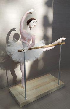 Bjd dolls, ballerina gift for dancer by DollsbyOlgaSanina Ballet Bar, Ballet Class, Doll Wigs, Bjd Dolls, Ballerina Barbie, Ballet Pictures, Dancing Dolls, Crochet Barbie Clothes, Doll Stands