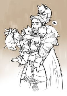 King Alistair with some of the Ferelden army's new recruits ;)