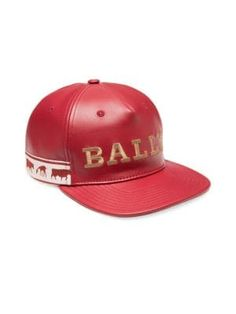 Bally Animal Leather Baseball Cap - Red X-Large. ModeSens Men d7ce47cac4cd