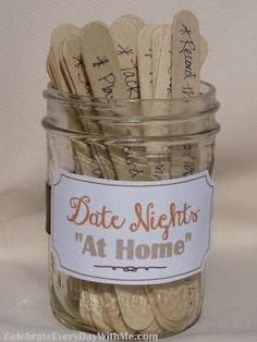Another date night in a jar .... fun ideas to keep things fresh & all while being budget friendly :)