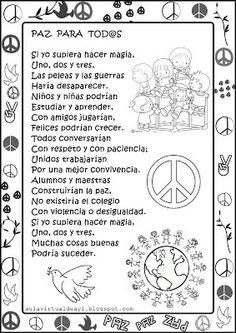 EL MARAVILLOSO MUNDO DE AUDICIÓN Y LENGUAJE: Día de la Paz Mexican Christmas Traditions, Peace Crafts, Story Sequencing, Coach Quotes, Bilingual Education, Learning Spanish, Classroom Organization, School Supplies, Elementary Schools
