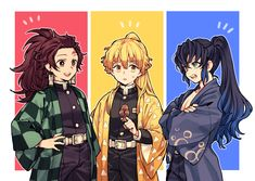 Read Tanjiro x Zenitsu x Inosuke from the story [KnY][Drop] Góc Demon Slayer by (- Manga Anime, Anime Demon, Otaku Anime, Anime Guys, Anime Art, Anime Bebe, Arte Do Kawaii, Slayer Meme, Anime Lindo