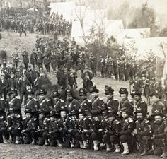 Garry Adelman's Civil War Page Page Liked · December 10 · Edited · Lovely detail for showing depth of soldiers, and this is just part of one regiment! Just Imagine 20 regiments coming at you. This is one of a great series of the Pa. Reserves) in camp. American Civil War, American History, Union Army, War Image, Civil War Photos, Us History, American Revolution, Civilization, Pictures