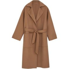 ÉTER Robe coat Camel (40.430 RUB) ❤ liked on Polyvore featuring outerwear, coats, jackets, camel hair coat, camel coat, brown coat and camel wool coat