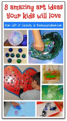 Need some art ideas for preschool?  Your kids will love these fun process art activities!