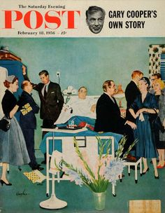 The Saturday Evening Post, February 1956. (Cover illustration by George Hughes)