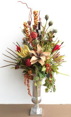 Silk Arrangements For Home Decor red and gold cymbidium silk orchid arrangement o126 59 click image to close Modern Exotic Floral Arrangement Designed By Arcadia Floral Home Decor