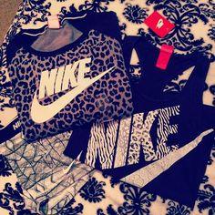 Nike & Leopard/Animal Print together - LOVE! @Dana Curtis Curtis Curtis Pahlman