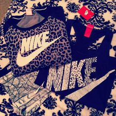 Nike & Leopard/Animal Print together - LOVE! @Dana Curtis Curtis Curtis Curtis Pahlman