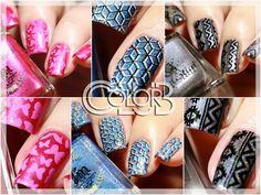 NEW Color Club stamping plates at Color4Nails : nailarts & review!