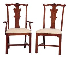 Cherry Chippendale Chairs (lightly distressed) by Colonial Furniture Cherry Furniture, Chippendale Chairs, Colonial Furniture, 18th Century, Dining Chairs, New Homes, House, Design, Home Decor