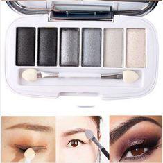 6 Colors Smoky Eyeshadow Palette Set Shining Makeup Cosmetic(BICP050280)