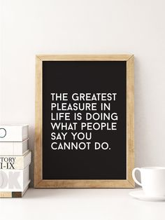 Typography Print The Greatest Pleasure Life Is by LovelyPosters