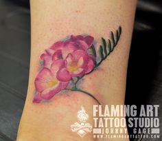 "Képtalálat a következőre: ""freesia tattoo"" Pansy Tattoo, I Tattoo, Bang Bang, Flower Tattoo Designs, Flower Tattoos, Girl Tattoos, Tatoos, Freesia Flowers, Family Flowers"