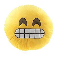 """""""Grinning"""" Emoji Pillow"""