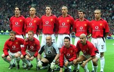 United line-up Vs Real Madrid in 2003