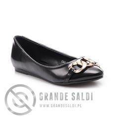 Stylowe czarne baleriny w sklepie internetowym GrandeSaldi