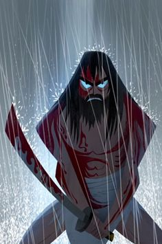Samurai Jack beard blood