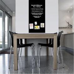 magnetische Tafelfolie 70x50cm - schwarz - Wandfolie Kreidetafel Wandtafel Türfolie - selbstklebend - inkl. 2 Kreide