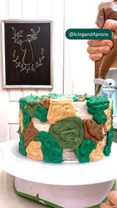 Creative Cake Decorating, Cake Decorating Techniques, Cake Decorating Tutorials, Creative Cakes, Cookie Decorating, Piping Buttercream, Buttercream Cake Designs, Cake Piping, Buttercream Recipe