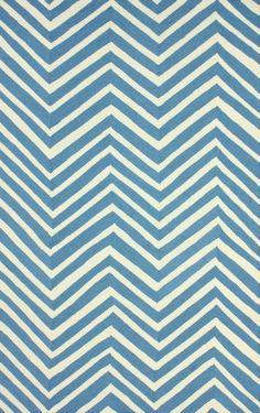 $5 Off when you share! Homespun Chevron Navy Blue Rug | Contemporary Rugs #RugsUSA