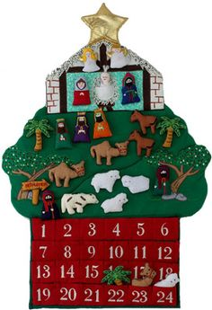 Nativity Fabric Advent Calendar | Fabric Advent Calendars | Vermont Christmas Co. VT Holiday Gift Shop