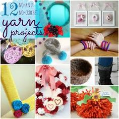 yarn crafts without knitting - Bing Images