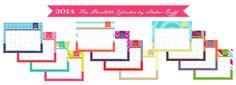 2014 Free Printable Calendar by Anders Ruff
