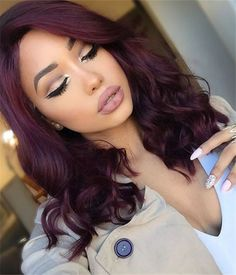Grape Synthetic Lace Front Wig