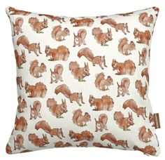 Dainty Squirrel Print Cushion £28.25 inc. UK postage. For full details please see website www.cushionsbydesign.co.uk