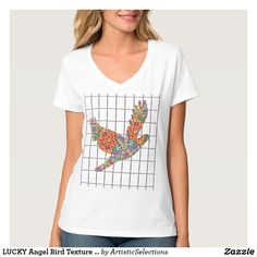 LUCKY Angel Bird Texture by Navin Joshi Artist T-Shirt
