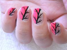 Beautiful Leaf Nail With Short Nail Designs, Beautiful Nail With Short Nail Designs for Woman 2013