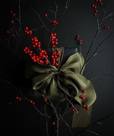 Gift Wrapping ideas with Silk & Willow Plant Dyed Silk Ribbon.
