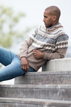 Carl Genser Lys Brun - Køb billigt her Sweater Jacket, Men Sweater, Modern Retro, Turtle Neck, Pullover, Sweaters, Knitting Ideas, Knits, Crochet