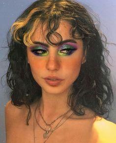 Edgy Makeup, Makeup Goals, Makeup Inspo, Makeup Inspiration, Beauty Makeup, Hair Makeup, Punk Makeup, 60s Makeup, Bold Eye Makeup