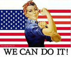 Patriotic Pin-Up - Rosie the Riveter American Flag Clip Art, Best Flags, Free Clipart Images, Pledge Of Allegiance, Rosie The Riveter, In God We Trust, We Can Do It, Art Classroom, Classroom Ideas
