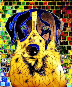 "Color alteration of ""Moses"" mosaic by Susan Walden Paper Mosaic, Mosaic Crafts, Mosaic Projects, Mosaic Art, Mosaic Glass, Mosaic Tiles, Art Projects, Mosaic Animals, Mosaic Madness"