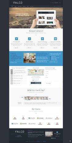 Falco - Responsive Multi-Purpose WordPress Theme by Zizaza - design ocean , via Behance
