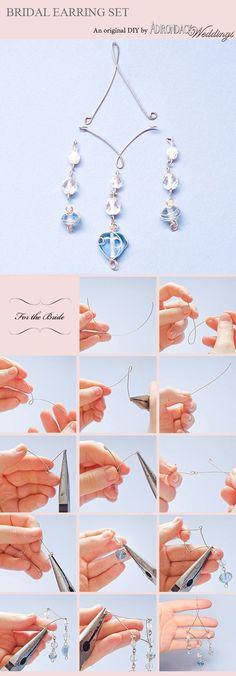 Jewelry Tools, Stone Jewelry, Jewelry Crafts, Diy Earrings, Diy Necklace, Wire Wrapped Jewelry, Wire Jewelry, Beaded Jewelry, Jewelery