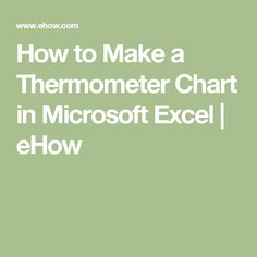 How to Make a Thermometer Chart in Microsoft Excel | eHow