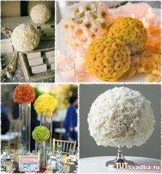Шары из цветов в оформлении свадьбы + Фото » Свадебный портал ТУТ СВАДЬБА
